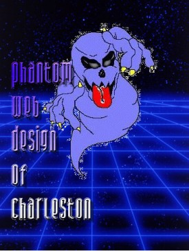 Phantom Web Design of Charleston Logo